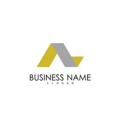 letter a ribbon business logo vector image