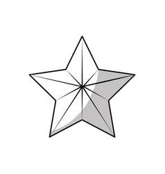 line cute modern and birg star design vector image