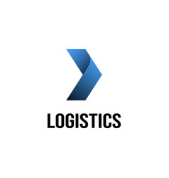 logistics logo design inspiration vector image