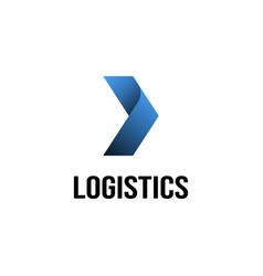 logistics logo design inspiration vector image