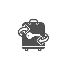 Luggage room simple icon baggage locker sign vector
