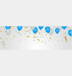 luxury birthday background with colorful balloons vector image