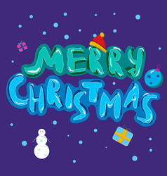 Merry christmas hand drawn note with brush vector