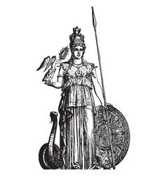 Minerva vintage vector