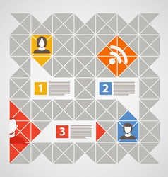 Modern color social media content vector
