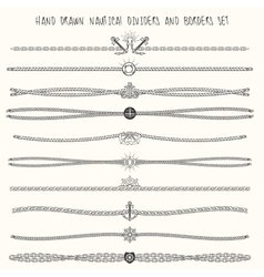 Nautical Dividers Set vector image