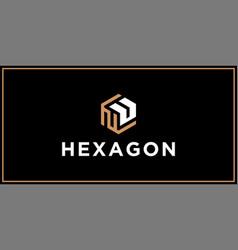 Nu hexagon logo design inspiration vector