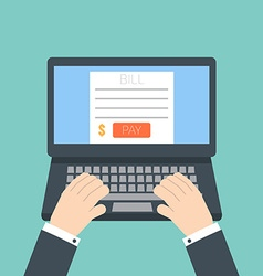 online invoice laptop vector image