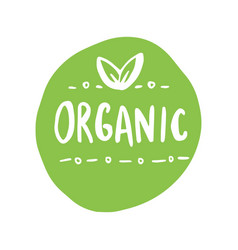 organic products icon food package label graphic vector image