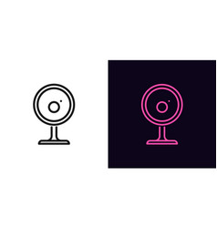 Outline webcam icon linear internet camera sign vector