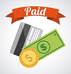 Paid design vector