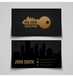 Real estate Business card template vector