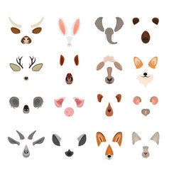 realistic 3d detailed animal face for video chat vector image