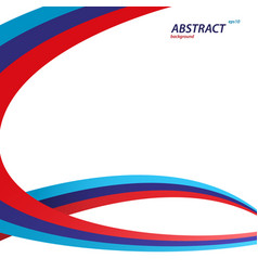 Red blue and dark blue color swirl concept vector