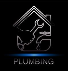 repair plumbing design vector image