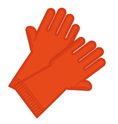 rubber gloves for gardening or cleaning at home vector image