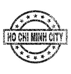 Scratched textured ho chi minh city stamp seal vector