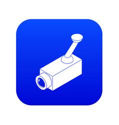 security camera icon blue vector image