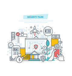 security plan safe storage of financial savings vector image