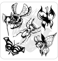 Set - Aggressive Insects vector