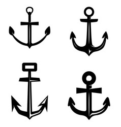 set anchor isolated on white background design vector image