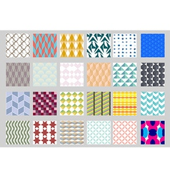 Set of simple geometric pattern vector image
