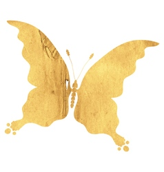 Silhouette vintage butterfly vector