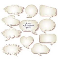 Speech bubbles cut from paper Set eps 10 vector image