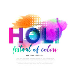 spring holi festival colorful background design vector image
