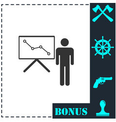 training icon flat vector image