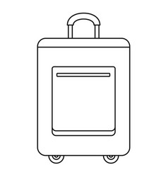 trip bag icon outline style vector image