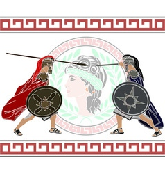 trojan war stencil second variant vector image