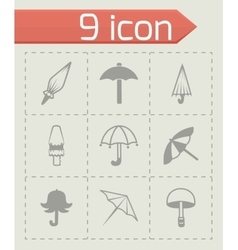 Umbrella icon set vector
