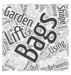 Using Gardening to Get in Shape Word Cloud Concept vector