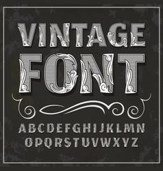 Vintage font retro font vector