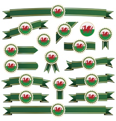 Wales ribbons vector