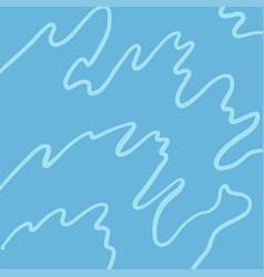 water waves ocean sea river or swimming pool vector image