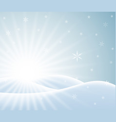 Winter card with snowy landscape vector