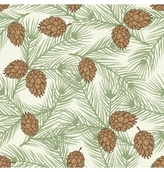 Winter seamless pattern with stylized pine vector image