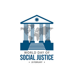 World day social justice design vector