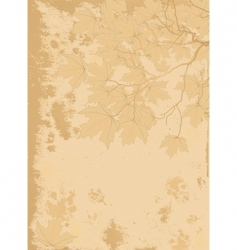 autumn leaves antique background vector image vector image