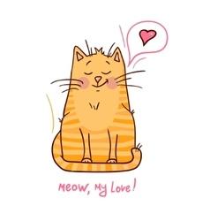 cute red kitten 1 vector image vector image