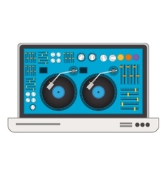 disc jockey design vector image
