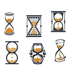hourglass symbols vector image vector image