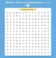 line universal webpage tiny icon set vector image