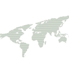 Background with map of world vector image