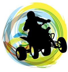 Sportsman riding quad bike vector image