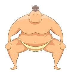 Sumo wrestler icon cartoon style vector image