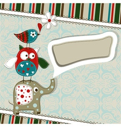 Template greeting card scrap vector image vector image