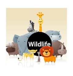 Wild animal background 3 vector image